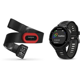 Garmin Forerunner 735XT Running Clock incl. Premium HRM chest belt Run, black/grey